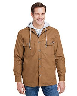 Mens Hooded Duck Quilted Shirt Jacket-