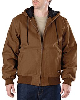 Mens Tall Sanded Duck Hooded Jacket-Dickies