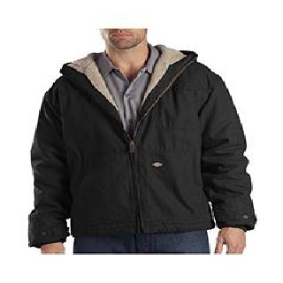 8.5 Oz. Sanded Duck Sherpa Lined Hooded Jacket-Dickies