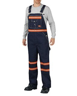 Mens Enhanced Visibility Denim Bib Overall-Dickies