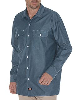 Mens Relaxed Fit Long-Sleeve Chambray Shirt-