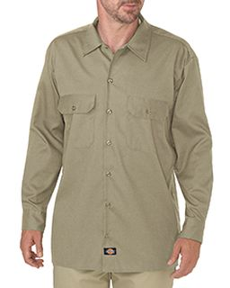 Mens Flex Relaxed Fit Long-Sleeve Twill Work Shirt-