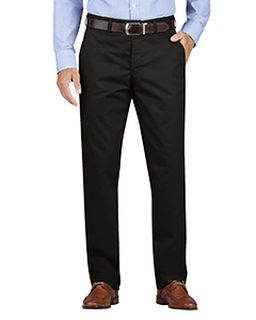 Mens Khaki Regular Fit Tapered Leg Flat Front Pant-