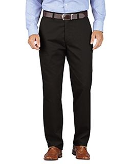Mens Khaki Relaxed Fit Tapered Leg Comfort Waist Pant-