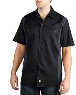 Mens Two-Tone Short-Sleeve Work Shirt-