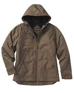 Mens 8.5oz, 60% Cotton/40% Polyester Storm Shield Tm Hooded Canvas Yukon Jacket-Dri Duck