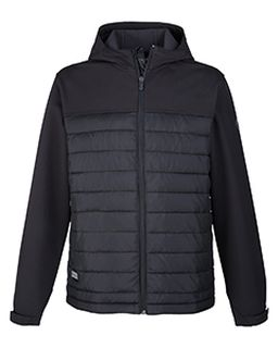 Mens Pinnacle Puffer Body Softshell Hooded Jacket-