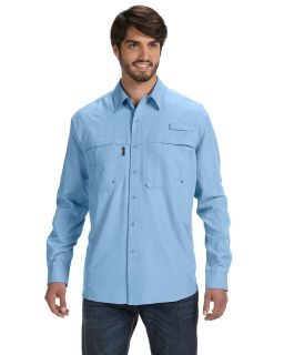 Mens 100% Polyester Long-Sleeve Fishing Shirt-
