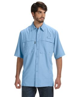 Mens 100% Polyester Short-Sleeve Fishing Shirt-