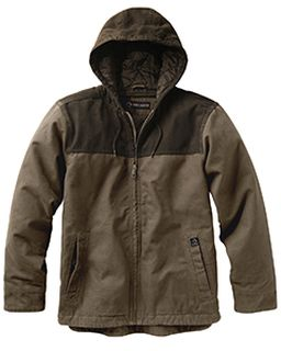 Mens 12 Oz. 100% Cotton Canvas Hooded Terrain Jacket-Dri Duck