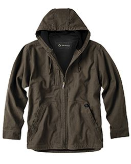 Mens 100% Cotton 12 Oz. Canvas/Polyester Thermal Lining Hooded Tall Laredo Jacket-Dri Duck