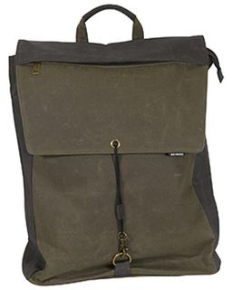 Waxed Cotton Commuter Canvas Backpack-