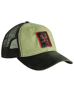 Waxy Cotton Trucker Buck Icon Cap-