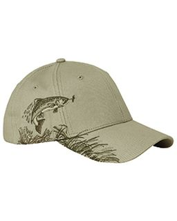 Brushed Cotton Twill Trout Cap-