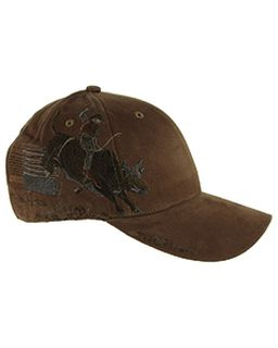 Brushed Cotton Twill Bull Rider Cap-