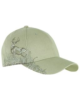 Deer Mule Camo Structured Mid-Profile Hat-
