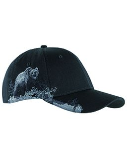 Brushed Cotton Twill Grizzly Bear Cap-