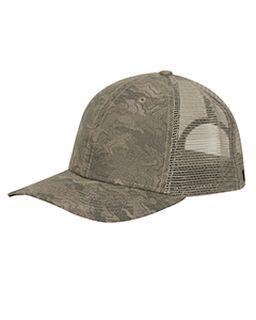 Structured Mid Profile Camo Print Trucker Hat-Dri Duck