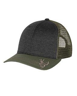 Structured Mid Profile Heather Trucker Hat-