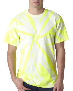 Adult Neon 1-Color Pinwheel Tee-