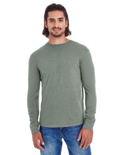 Mens Heather Sueded Long-Sleeve Jersey-