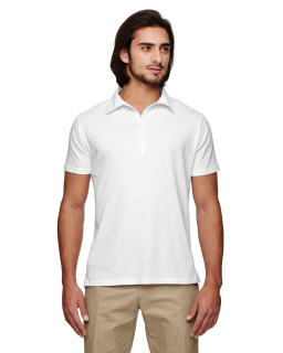 Mens 100% Organic Cotton Jersey Short-Sleeve Polo-