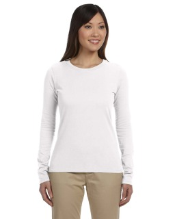 Ladies 4.4 Oz., 100% Organic Cotton Classic Long-Sleeve T-Shirt-