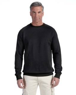 7 Oz. Organic/Recycled Heathered Fleece Raglan Crew-econscious