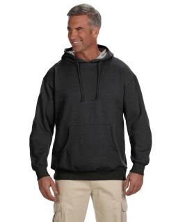 Adult 7 Oz. Organic/Recycled Heathered Fleece Pullover Hood-econscious