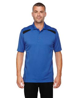 Mens Eperformance™ Tempo Recycled Polyester Performance Textured Polo-Ash City - Extreme