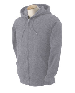 Adult 12 Oz. Supercotton™<long> Full-Zip Hood