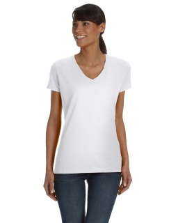 Ladies 5 Oz. Hd Cotton™ V-Neck T-Shirt-