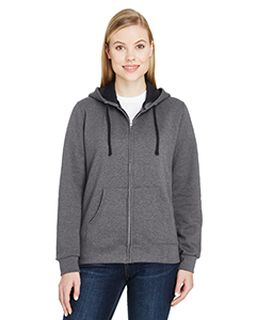 Ladies 7.2 Oz. Sofspun® Full-Zip Hooded Sweatshirt