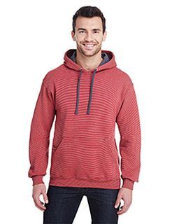 Adult 7.2 Oz. Sofspun® Striped Hooded Sweatshirt-Fruit of the Loom