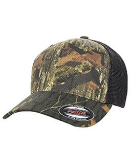 Adult Mossy Oak Stretch Mesh Cap-Flexfit