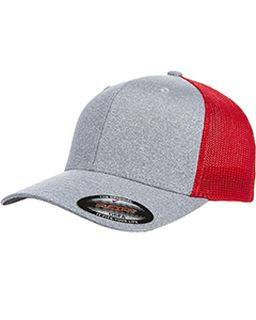 Adult Poly Melange Stretch Mesh Cap-