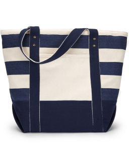 Seaside Zippered Cotton Tote-
