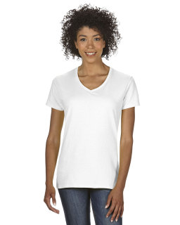 Ladies Heavy Cotton™ 5.3 Oz. V-Neck T-Shirt-