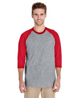 Adult Heavy Cotton™ 3/4-Raglan Sleeve T-Shirt-