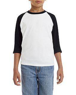 Youth Heavy Cotton� 5.3 Oz. 3/4-Raglan Sleeve T-Shirt-
