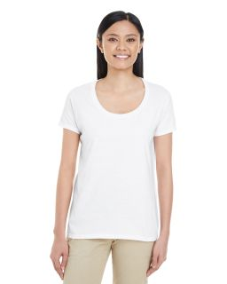 Ladies Softstyle® 4.5 Oz. Deep Scoop T-Shirt-
