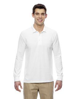 Adult Dryblend® 6.3 Oz. Double Pique Long Sleeve Polo