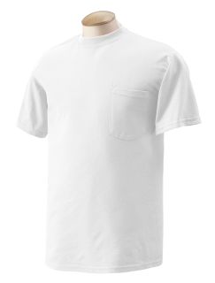 Adult 5.5 Oz., 50/50 Pocket T-Shirt-Gildan