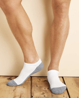 Adult Platinum™ Adult No Show Socks-Gildan