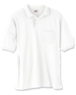 Adult 5.2 Oz., 50/50 Ecosmart® Jersey Pocket Polo-Hanes