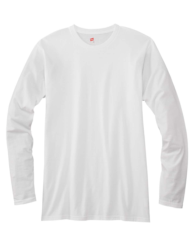 bf35c88c Adult 4.5 Oz., 100% Ringspun Cotton Nano-T® Long-Sleeve T-Shirt. 498L. Hanes