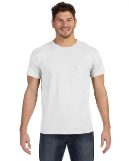 Adult 4.5 Oz., 100&#37<long> Ringspun Cotton Nano-T® T-Shirt With Pocket