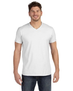 Adult 4.5 Oz., 100&#37<long> Ringspun Cotton Nano-T® V-Neck T-Shirt