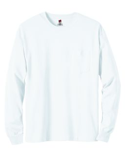 Mens 6 Oz. Authentic-T Long-Sleeve Pocket T-Shirt-Hanes