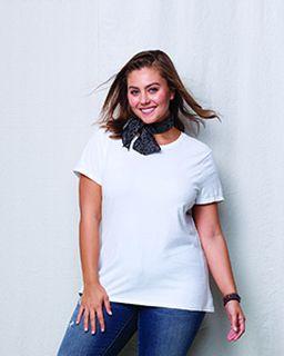 Ladies Jms 4.5 Oz., 100% Ringspun Cotton Crew T-Shirt-